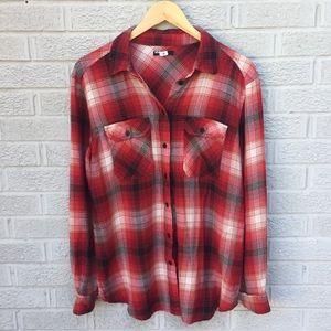 BDG Plaid Flannel Button Down Shirt